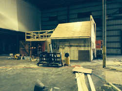 shed external build on stage