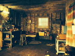 shed interior build and set dress