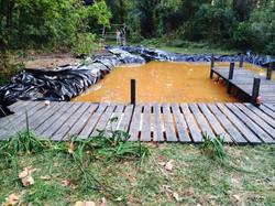 pond dig and build dock