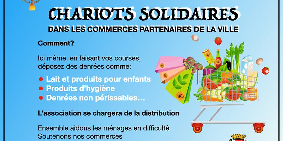 Chariots solidaires dans les commerces de la ville de Levallois