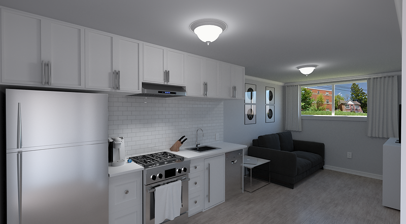 75 Carling Street - 3D Interior Render 2