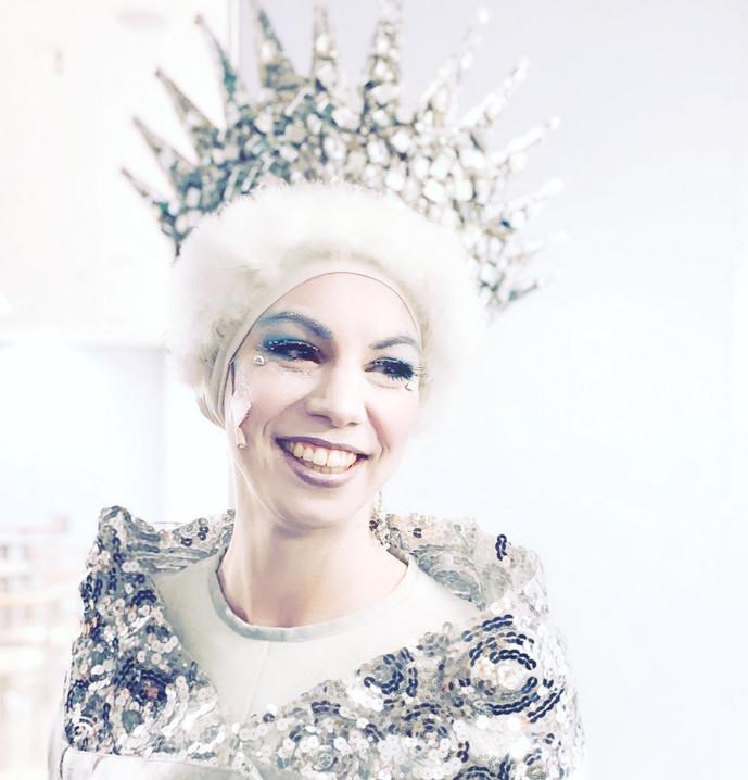 Sophie Becker als Schneekönigin