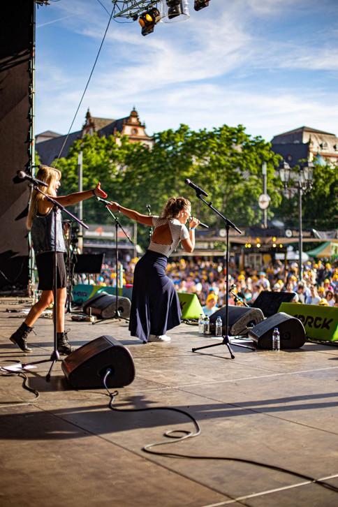 Sophie und The Sound Section beim SGF Darmstadt