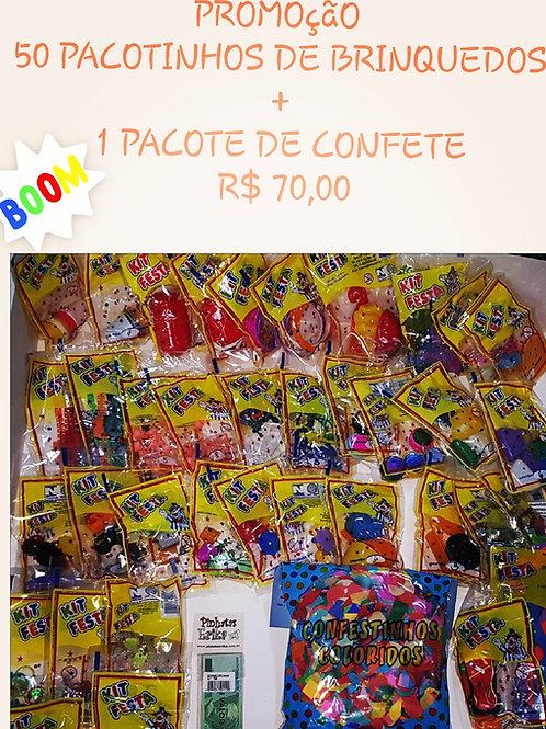 Kit 50 Pct de Brinquedinhos