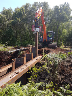 Driving Piles to Create Dam