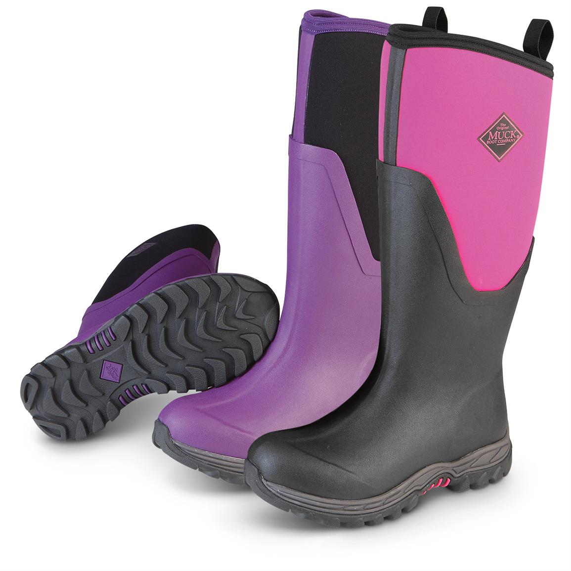 purple pink boots