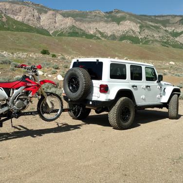 Jeep and Dirt Bike