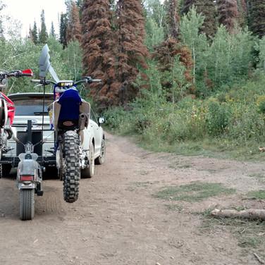 2 Dirt Bikes and a Subaru