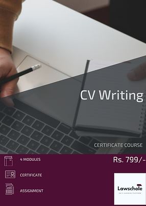 CERTIFICATE COURSE CV WRITING LAWSCHOLE.