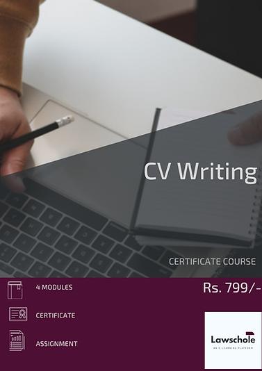 CERTIFICATE COURSE CV WRITING LAWSCHOLE.