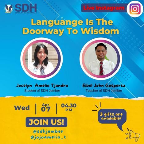 IG Live : Language is The Doorway To Wisdom