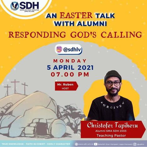 Easter Talk with Alumni SDH Lippo Village
