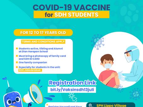 Sekolah Dian Harapan Mendukung Gerakan Vaksinasi untuk siswa/i di SDH Se-Jabodetabek