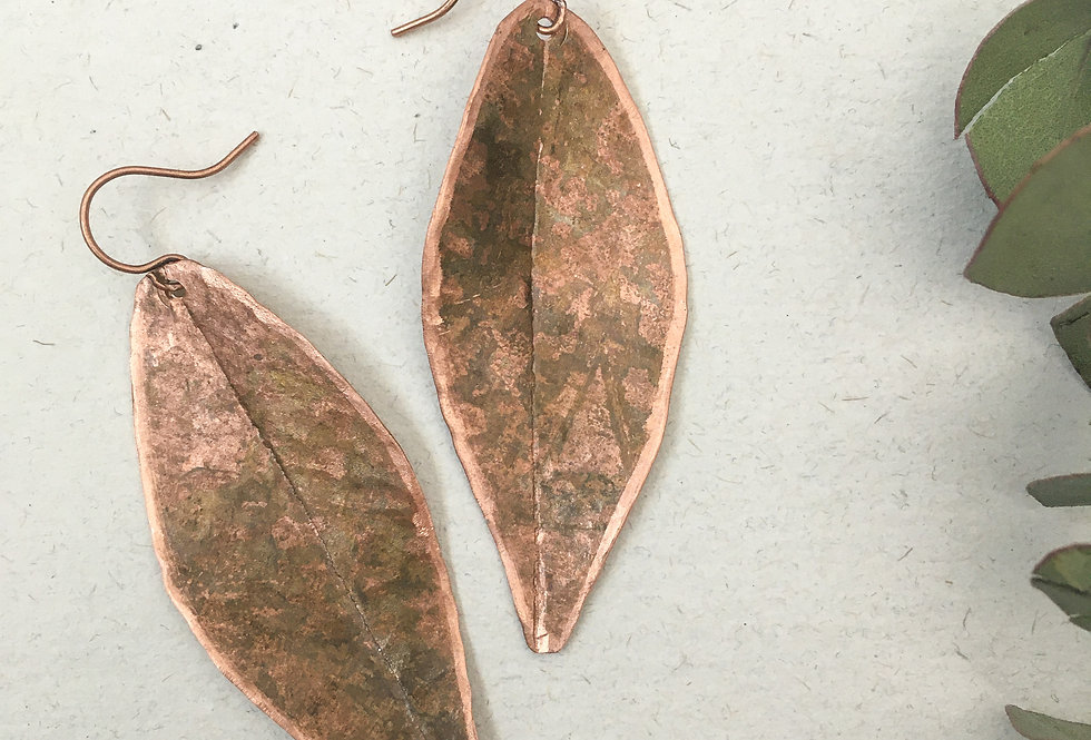 Rustic Copper Leaf