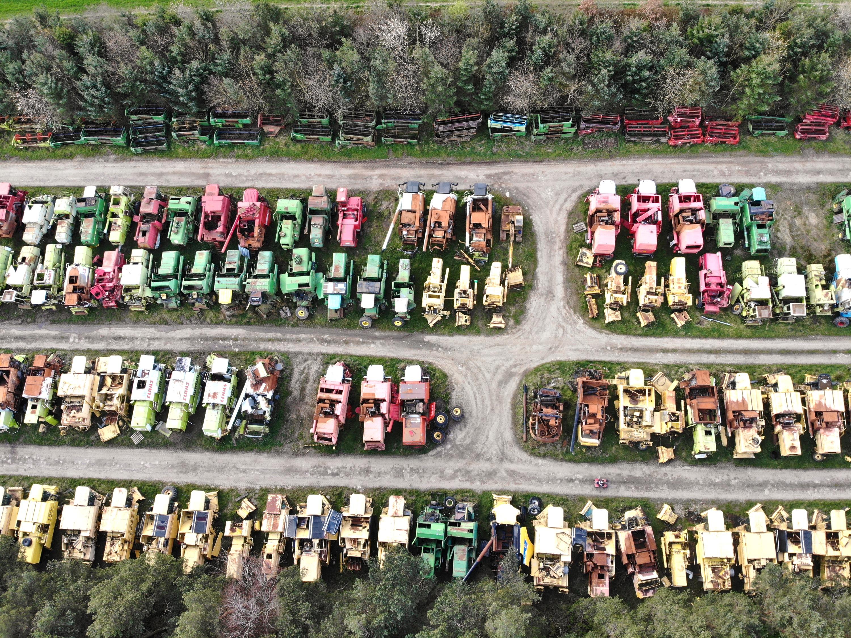 Combine harvester scrapyard