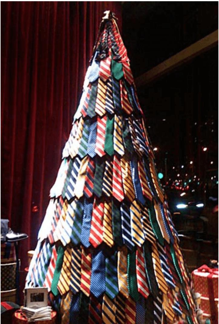 necktie Christmas tree