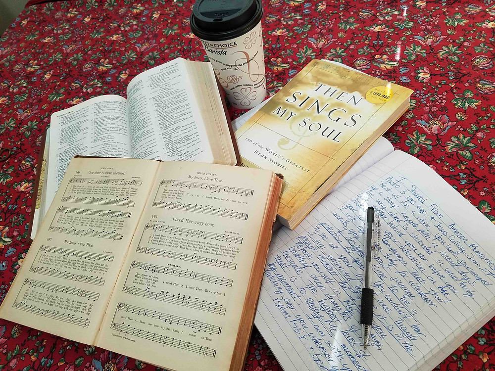 hymnbook and journal