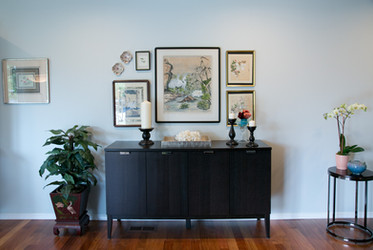 A new location for the homeowner's art collection