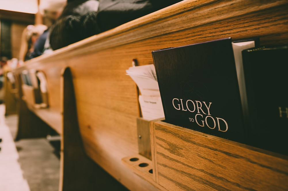 Hymnbook in pew
