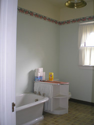 The one full bath upstairs before we added a shower