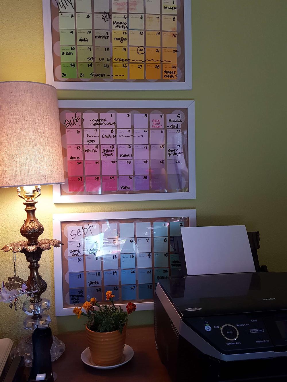 paint chip calendars