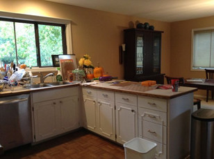 The old kitchen work area felt cramped and outdated, and didn't function well for the family's needs.
