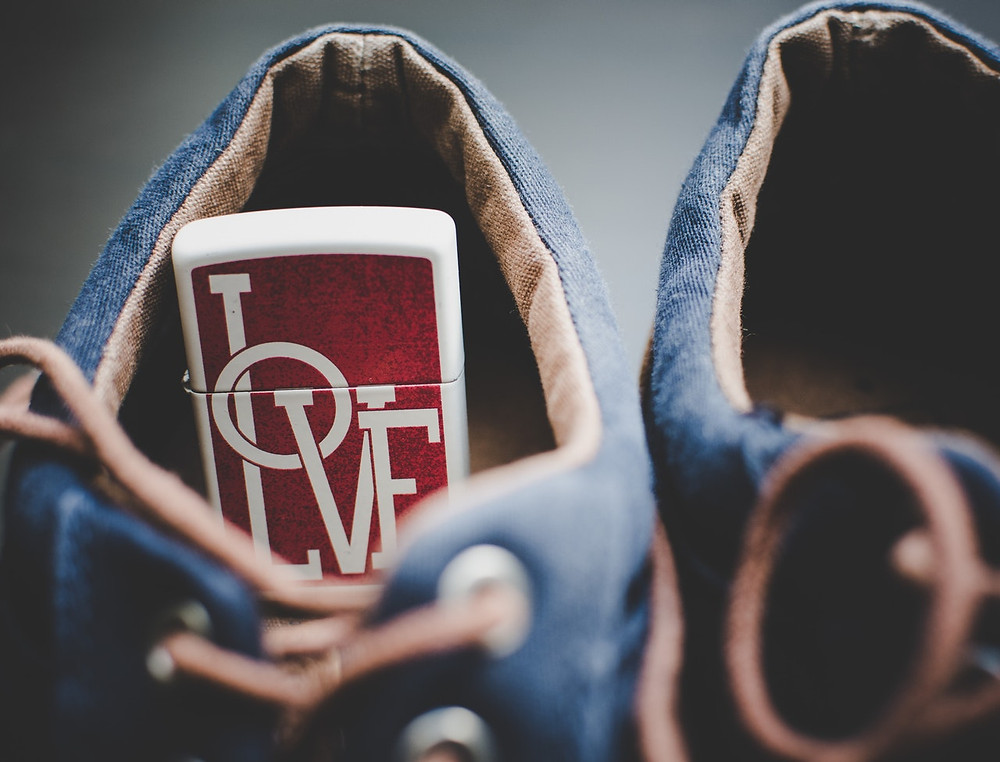 shoe with love inside