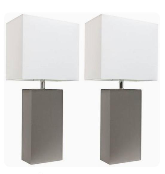 gray lamps from LampsPlus.com
