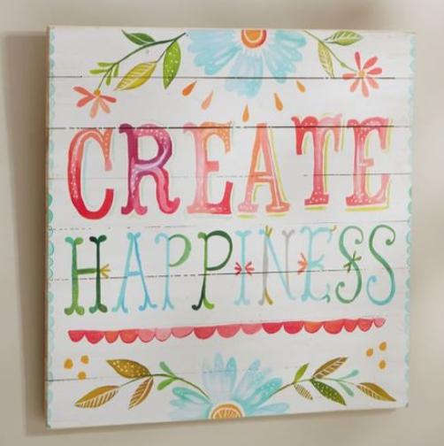 create happiness art piece