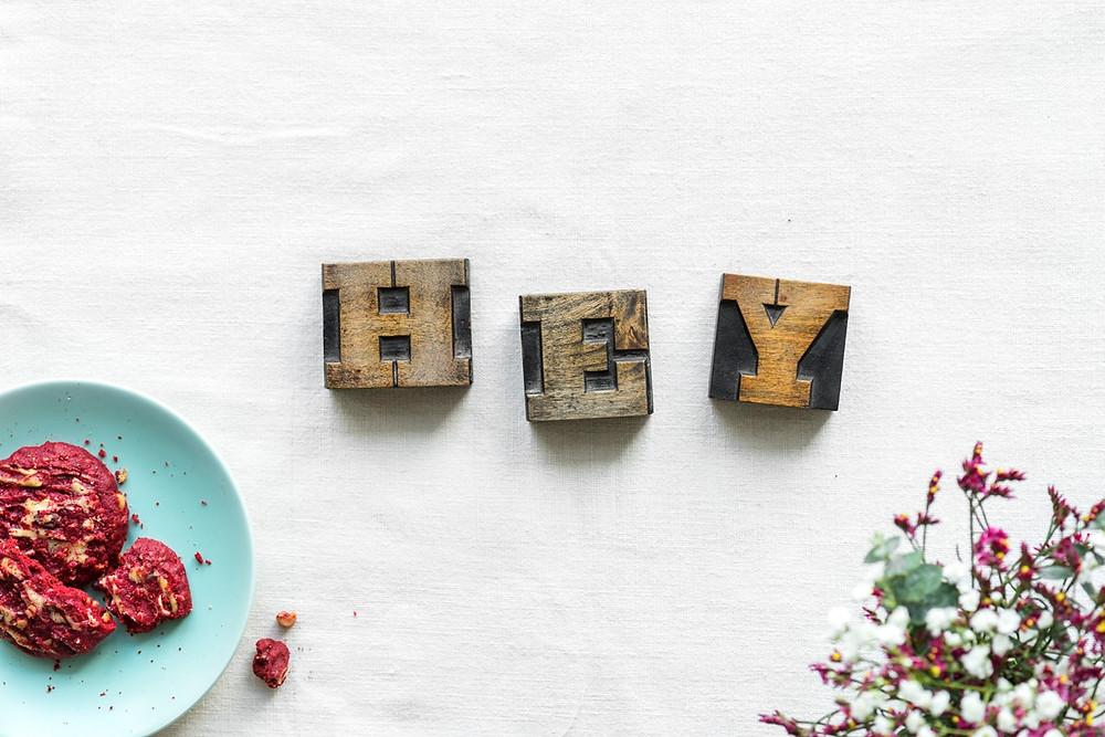 "The word ""Hey"""