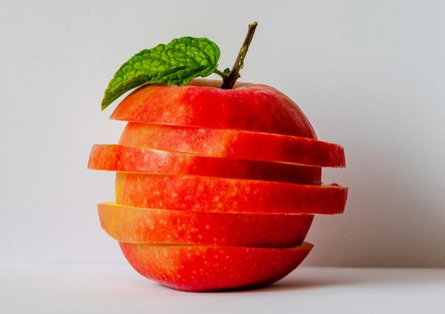 segmented distorted apple