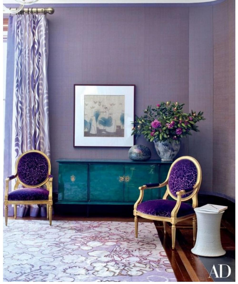 Architectural Digest purple room