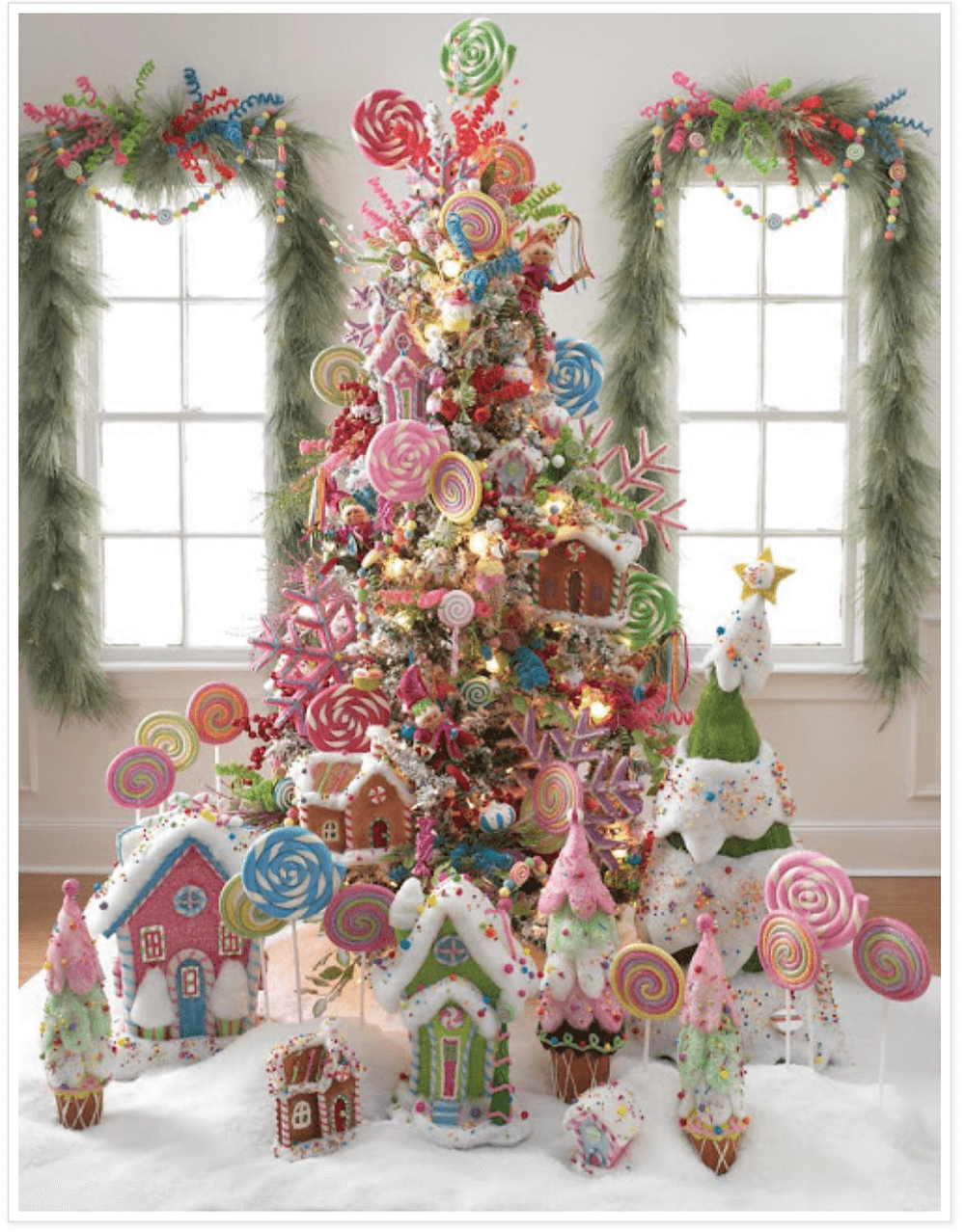 lollipop christmas tree