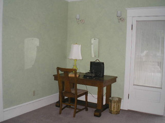 A sleeping porch connected two of the bedrooms.