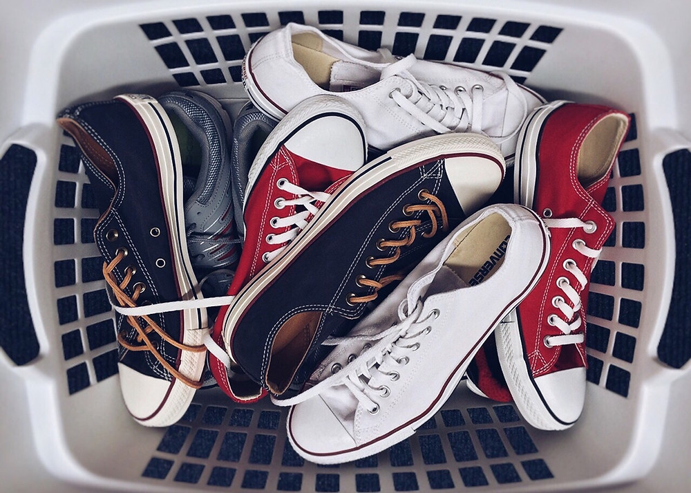 shoes in a basket