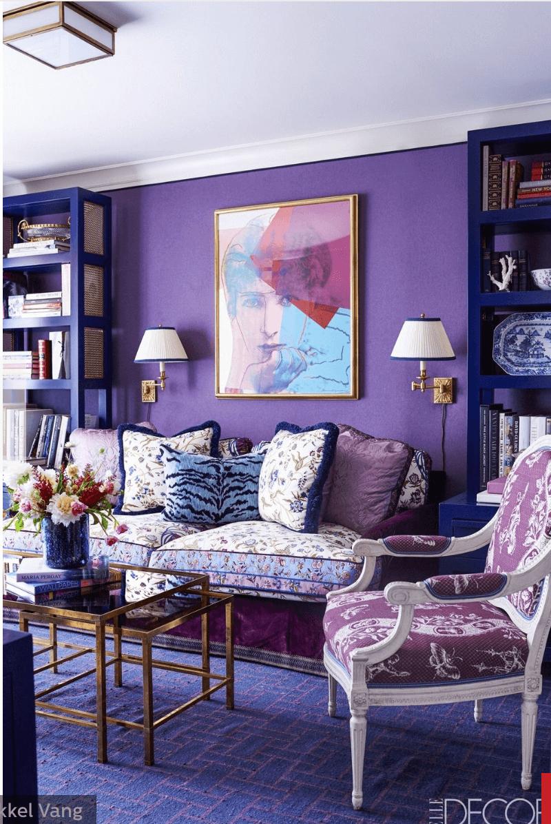 Elle Decor purple room