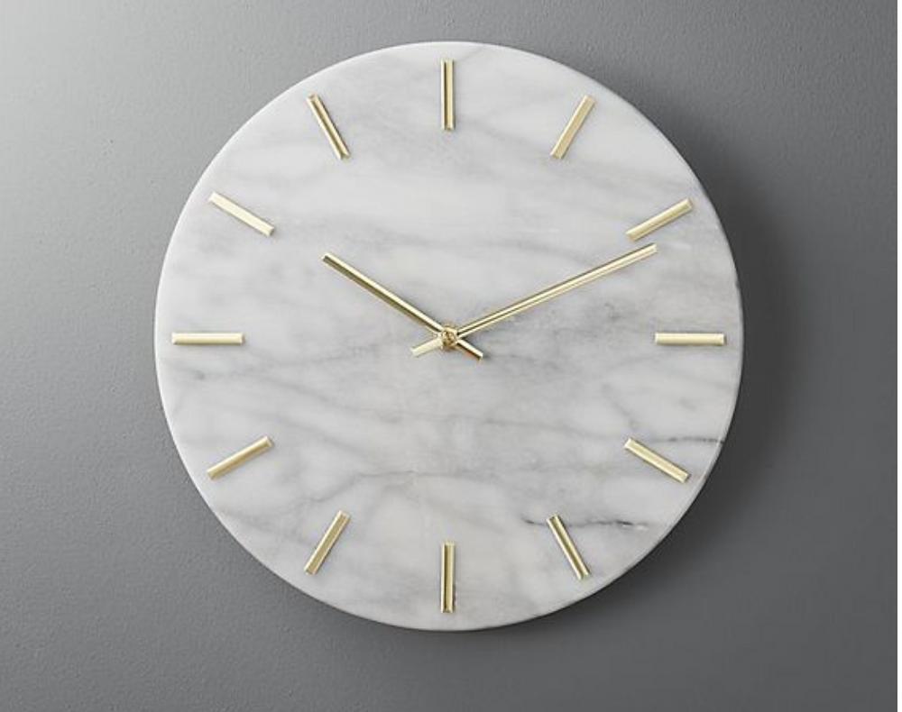 CB2 marble wall clock