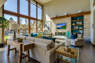 Floor to ceiling windows let in loads of natural light
