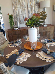 Earthy and elegant placemats made out of stone tile
