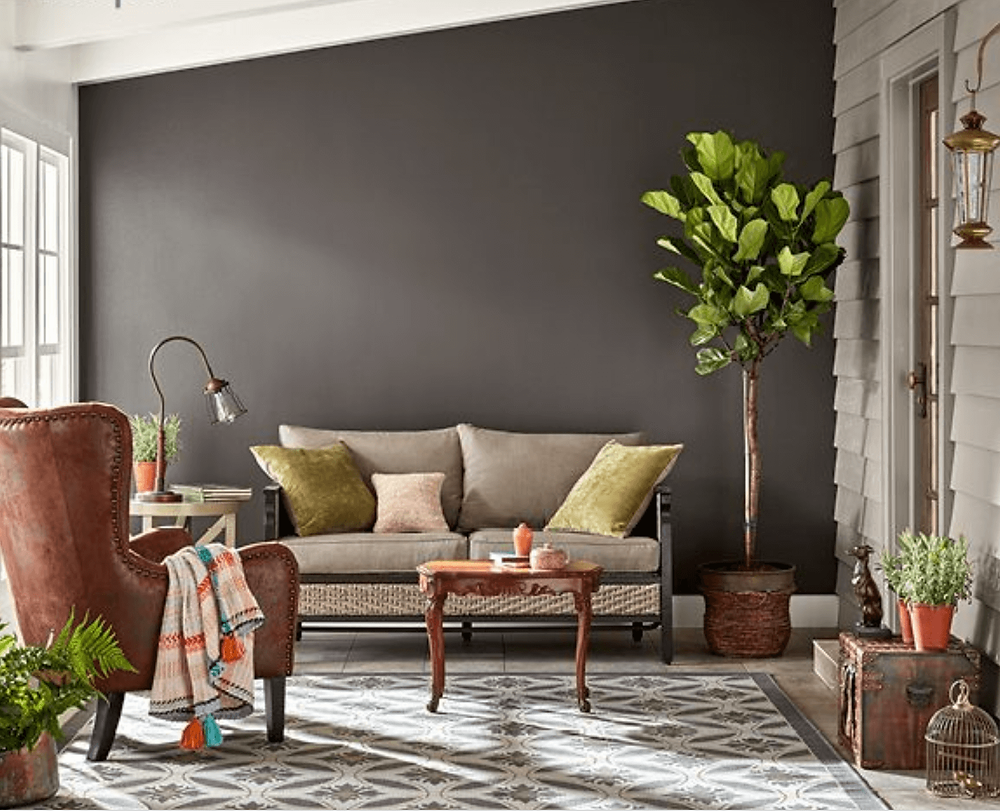 Charcoal Brown paint color for 2018