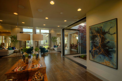 The mirrored entry from the front door