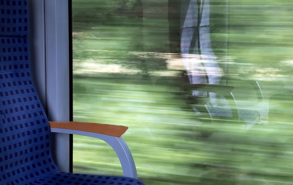rushing train