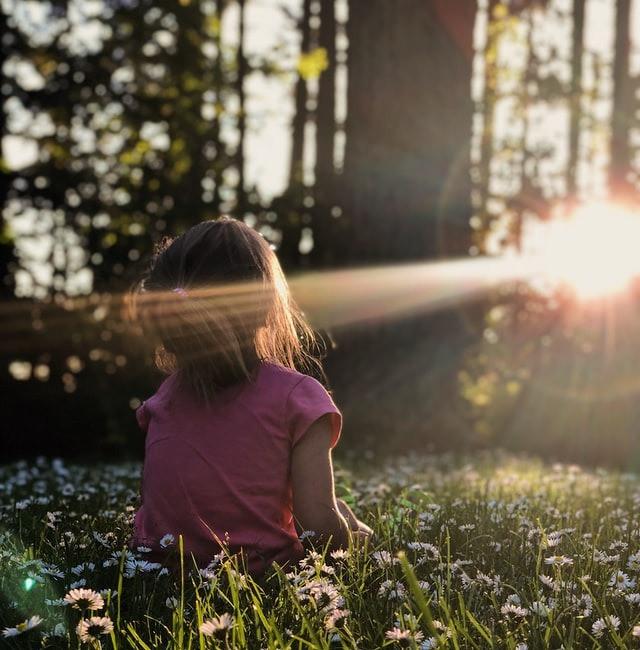 girl in sunbeam