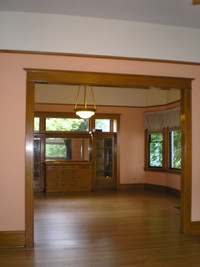 """A """"before"""" view into the dining room"""