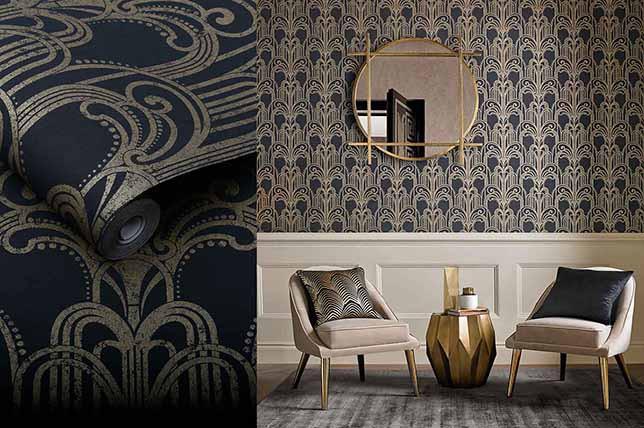 LifeNcolors-best-wallpaper-branded-luxury-pattern-dark-blue-golden
