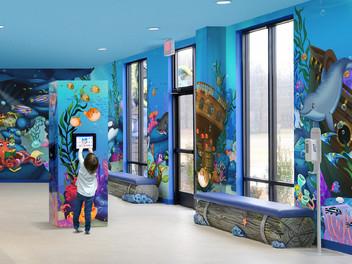 Ocean Decor Waiting Room