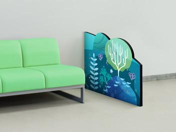 Ocean Themed Room Divider