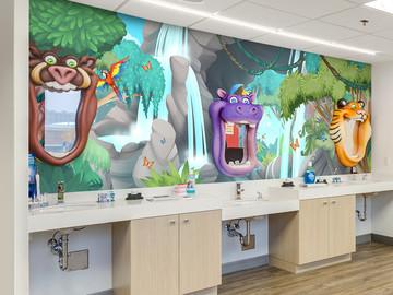 Jungle Brushing Station