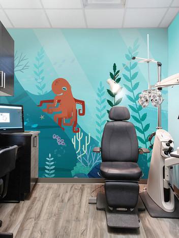 Octopus Contemporary Mural