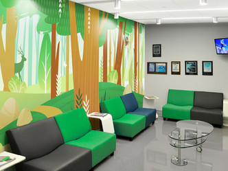 Waiting Room Forest Mural